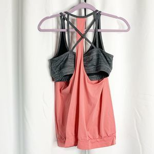 Maurices Tops - Maurices in motion M peach gray workout tank